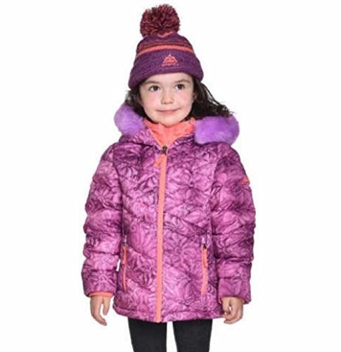 Snozu Down Jacket With Beanie Hat (Purple/Pink, 4T) by Snozu (Image #1)