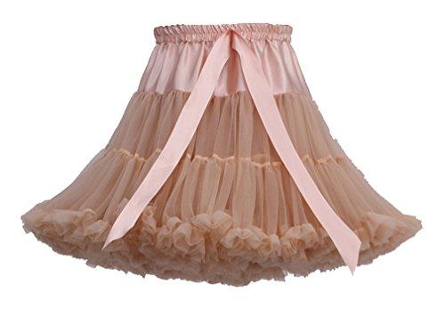 Enaguas Retro Tul Fiesta Vintage Ballet Faldas De Plisada Mujeres Khaki Plisadas Cortas YgfywB