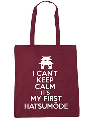 HippoWarehouse no puedo Mantener la calma es mi primera hatsum? De Bolsa De La Compra Bolsa de playa 42cm x38cm, 10litros granate