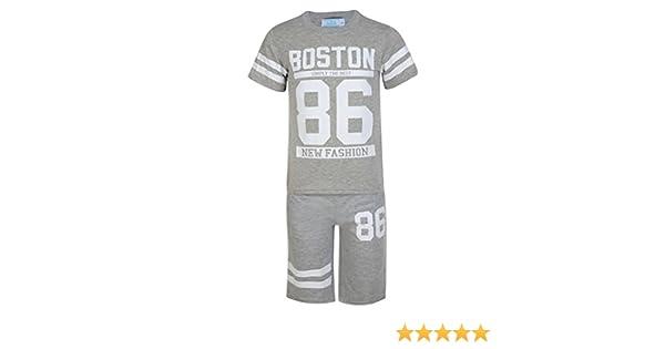 Niños 2 Piezas Camiseta & Conjunto Short Boston 83 Estampado Niño ...