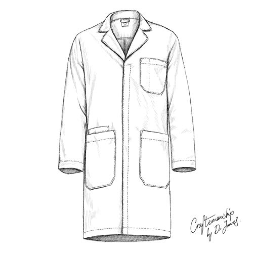 Dr. James Professionally Designed Unisex Lab Coat - 39 Inch Length US-01-2XS by Dr. James (Image #4)