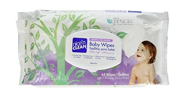 Amazon.com: Nice n Clean Sensitive Baby Wipes, 64 Count by Nice N Clean: Health & Personal Care
