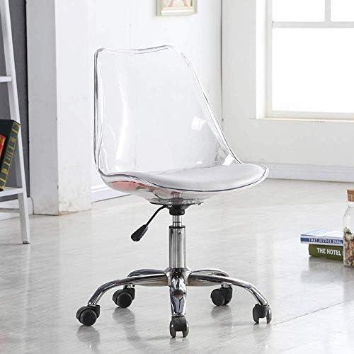 Chaise en plastique classique sans bras, chaises de salle à manger de style moderne au milieu du siècle, pieds en acier d'intérieur Cinq griffes pour la cuisine,