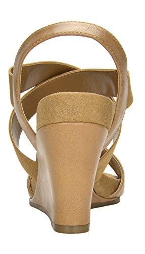 26174c7e65e4 TOETOS Women s Solsoft Low Platform Wedges Back Zipper Sandals ...