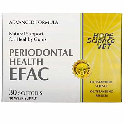 EFAC Periodontal Health Advance Formula for Dogs Cats (30 Softgels) Hope Science Vet IWM038048