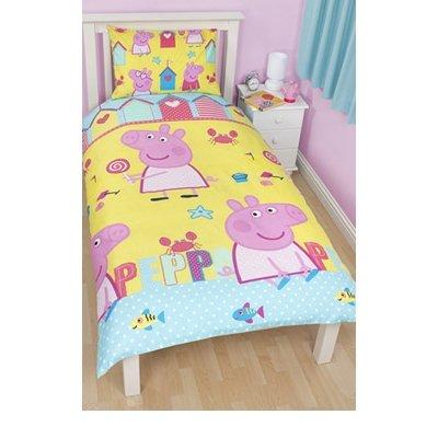 Character UK - Peppa Pig parure de lit Seaside 135 x 200 cm