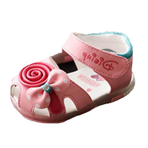 Ohmais Kinder Baby Mädchen Baby Kleinkind Schuh Leder weich Pink