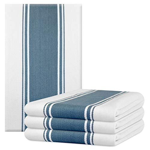 - The Homemakers Dish Kitchen Towels Vintage Striped 100% Cotton Tea Towel 20 x 28 inch Set of 4, Blue