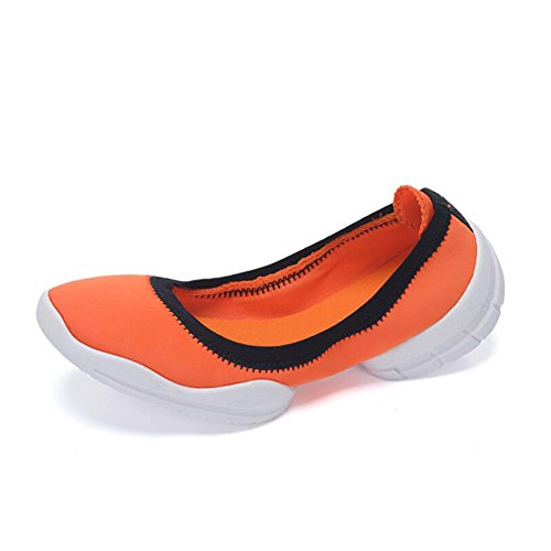F ONS Walking Elasticity Loafers Color Slip 40 Top Breathable Flat Women's Shoes Shoes Lightweight Loafers Sneakers Low amp; HUAN Ladies Running Size qxHaFwyEx0