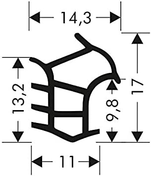 T/ürdichtung Stahlzargendichtung Z-647 Zargendichtung T/ür Zimmert/ürdichtung