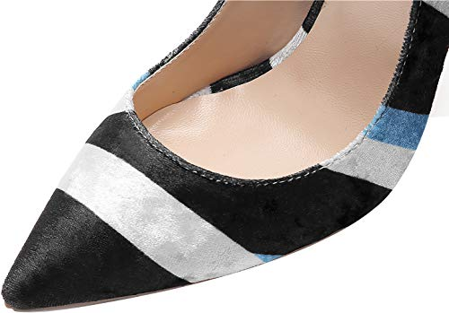 Chaussures nbsp;pointu Vadxpt Bout Escarpins Vaneel Sur 12cm Noir W Glisser Femme qC8p7p