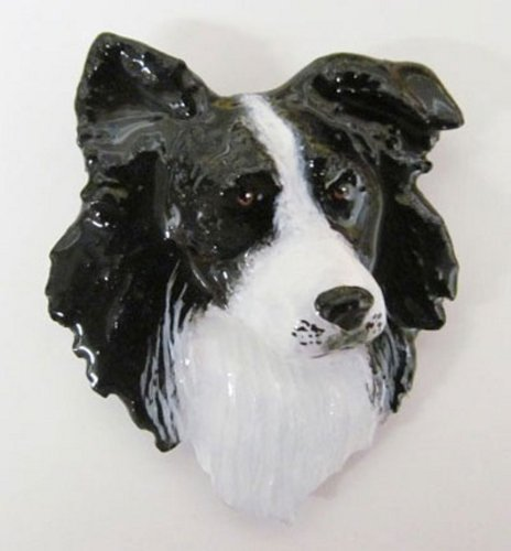 Creative Pewter Designs, Premium Pewter Border Collie Handcrafted Dog Lapel Pin Brooch, Hand Painted Finish, DP030PR - Border Collie Pin