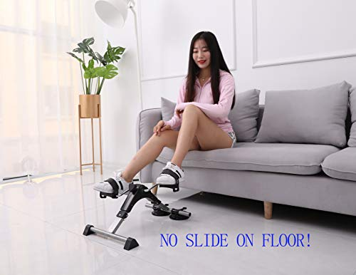 MOMODA Foot Pedal Exerciser Mini Exercise Bike with Suckers Non-Slip(Black/Gray) by MOMODA (Image #3)