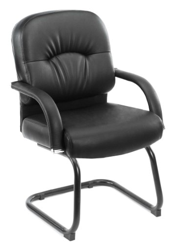 (Boss Office Products B7409 Mid Back Caressoft Guest Chair in Black)