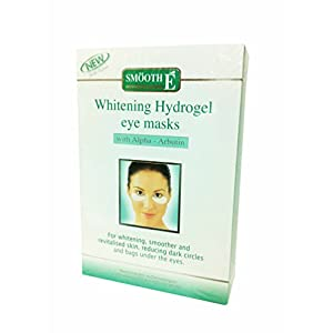 2 Packs of Smooth E Whitening Hydrogel Eye Masks, with Alpha-arbutin, for Whitening, Smoother and Revitalised Skin. Reducing Dark Circles and Bags Under the Eyes. (3 Pairs./Pack)