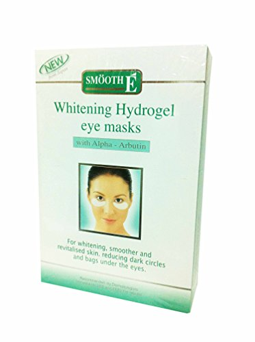 2 Packs of Smooth E Whitening Hydrogel Eye Masks, with Alpha-arbutin, for Whitening, Smoother and Revitalised Skin. Reducing Dark Circles and Bags Under the Eyes. (3 Pairs./ Pack)