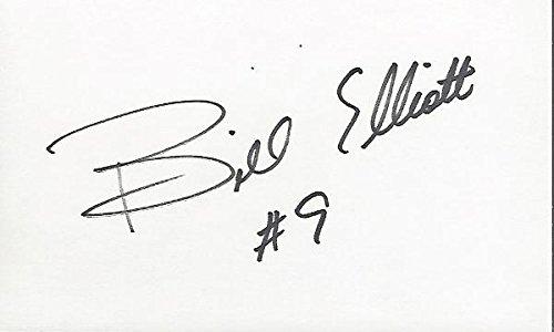 Bill Elliott Autographed Photograph - Racing 3x5 Inch Index Card - Beckett Authentication - NASCAR Cut Signatures