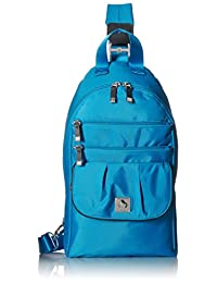 Baggallini On The Go Sling Bag, Azul, One Size