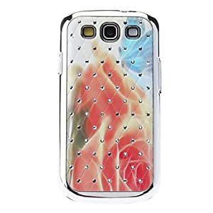 Hazy Flowers Sequins Starry Diamond Texture Back Case for Samsung Galaxy S3 i9300