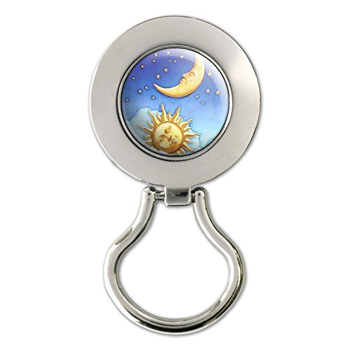 Celestial Sun Moon Stars Magnetic Metal Eyeglass Badge Holder