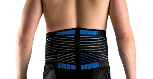 Secure Double Pull Neoprene Lumbar Back Support Belt, XX-Large (42''-46'') by Secure