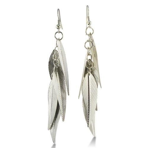 Lightweight Multi-Leaf Dangle Earrings