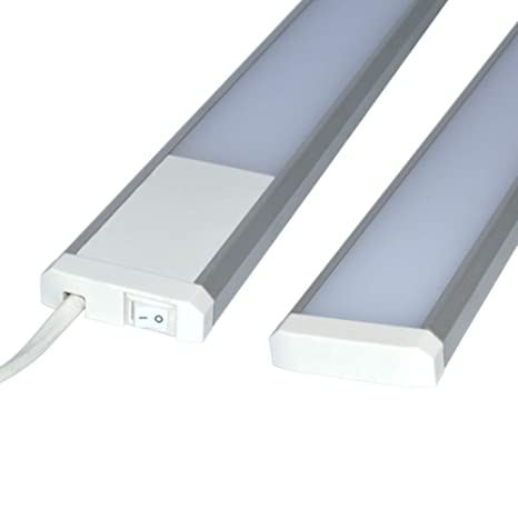 Trango LED 600 mm de largo – Lámpara fluorescente para cocina de luz descendente Barra de