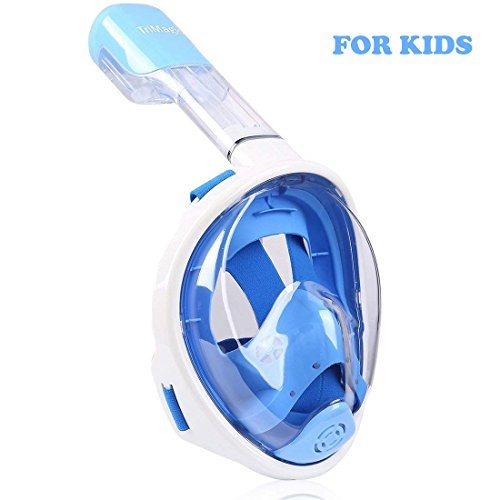 TriMagic Snorkel Mask 180° Panoramic Full Face Design with Larger Viewing Area   Easier Breathingwith Anti Fog and Anti Leak Kids