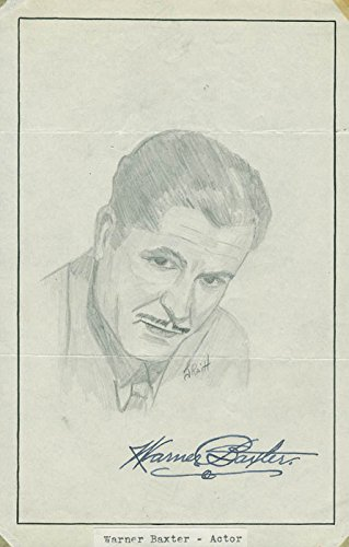 Warner Baxter – Original Art Signed co-signed By: John Raitt