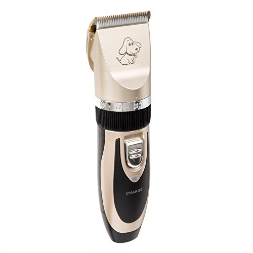 Pet Hair Clippers, Grooming Low Noise Pet Trimming Kit Set for Dogs, Cats, Rabbits and Hamsters HP-006 by HANBUN (Image #2)