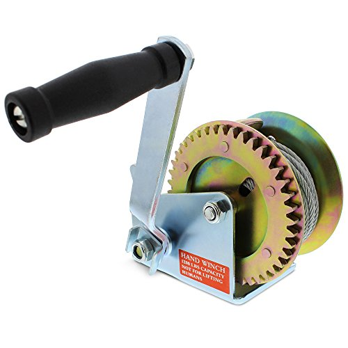 ABN Hand Winch Crank Gear Winch & Cable Heavy Duty, up to 1200lbs for Trailer, Boat or ATV by ABN (Image #6)