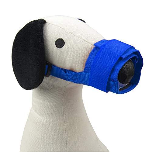(Alfie Pet - Carlin Matti Adjustable Quick Fit Nylon Mesh Muzzle - Color: Blue, Size: Large)