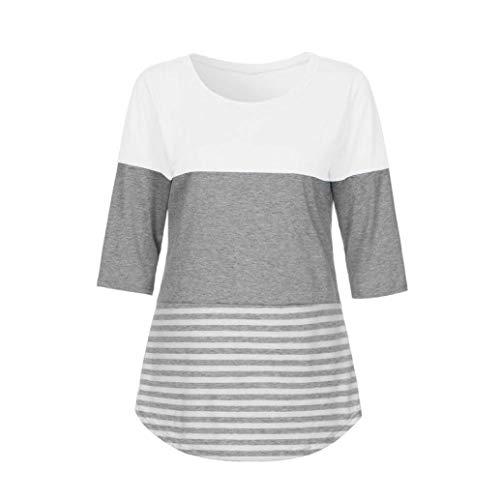 Camicetta Sciolto Moda Shirt Corta Tops Libero Bluse Maglietta Manica Base Giovane Estivi Collo Rotondo Button Donne di Tempo Donna Eleganti con BfFq0f