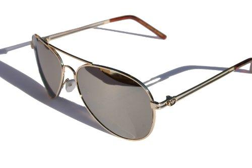 Triple Crown - Triple Crown Full Mirror Metal Aviator Sunglasses - Sunglasses Cops For Best