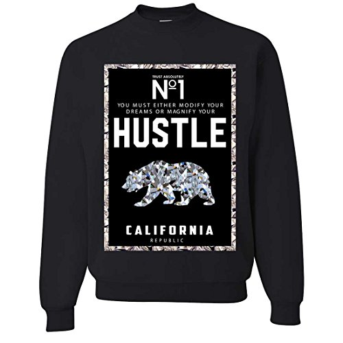 California Republic No. 1 Diamond Hustle Crewneck Sweatshirt - Black Small