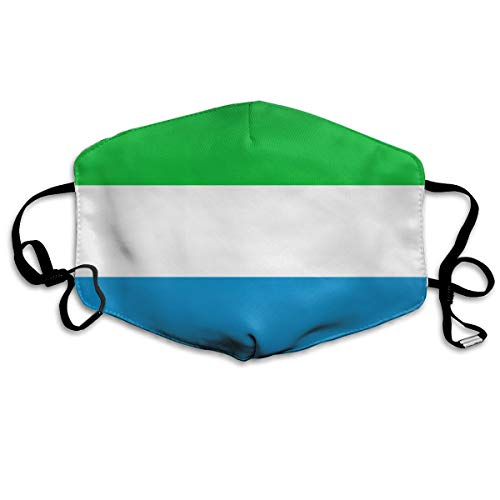 - OHMYCOLOR Striped Sierra Leone Flag Face Mouth Mask Unisex Fashion Breathable Anti-Dust Polyester Healthy Masks