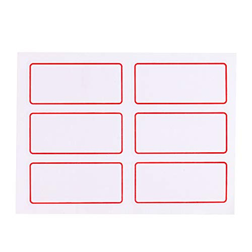 ️ Yu2d ❤️❤️ ️12 Sheets White Price Stickers Self Adhesive Labels Blank Name Number Tags Hot ()