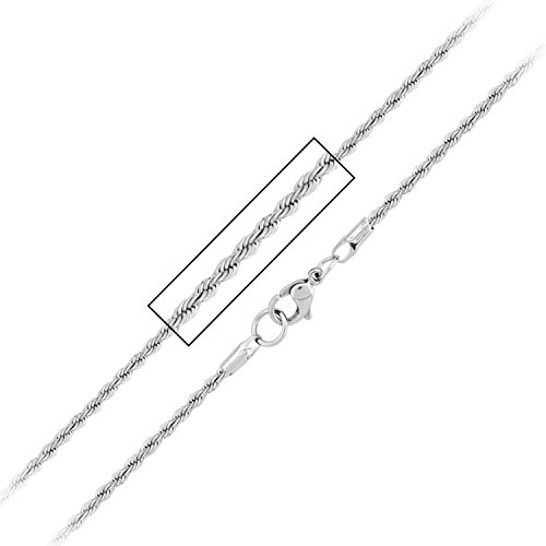 Stainless Steel Polish Finished French Rope Polished - French Rope Chain