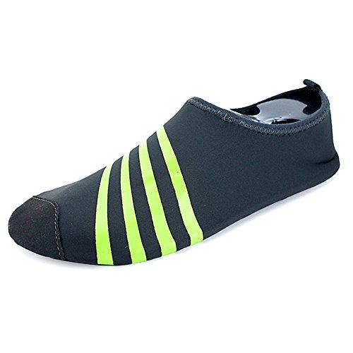 Adultos Niños De Piel De Secado Rápido Deportes Acuáticos Aqua Shoes Calcetines Holey Ventilación Kpu Outsole 3gray