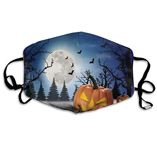 Halloween Holiday Pumpkin Cat Bat Printed Mouth Masks Unisex Anti-dust Masks Reusable Face -