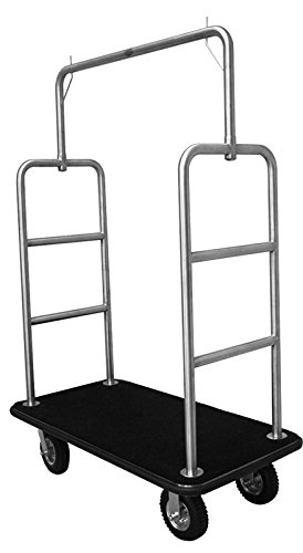 High Quality Stainless Steel Hotel Luggage Cart Bellman Cart Trolley service MCL207S