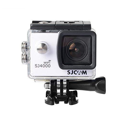 16GB TF Karte + Original SJCAM SJ4000 Wifi Action Kamera, HD 1080P WIFI wasserdichte Sport Action cam H.264 12MP 170 Grad Weitwinkel Objektiv DV für Tauchen Biking + 1pcs Ladegerät + 1pcs Extra Batterie (Weiß)