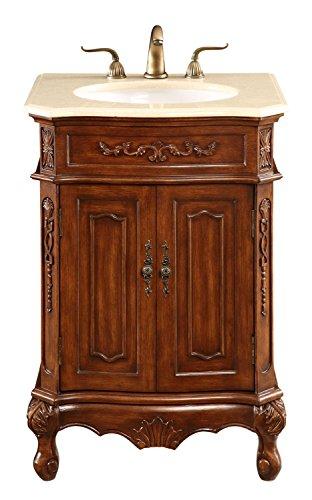 Brown Danville 24in. Wide 2 Door Vanity Set - Includes Cabinet, Stone Top, and Undermount Sink ()