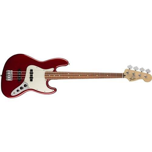 Fender Standard Jazz Electric Bass Guitar - Pau Ferro Fingerboard, Candy Apple Red