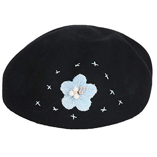 Negro Cómodo Suave color Sombrero weifeng Para New E Y Invierno Mujer Y Negro Cálido Lana De Otoño HgZ6WqwU