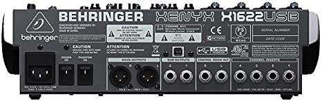 Behringer X1622USB Xenyx - Mezclador USB de 16 canales con ...