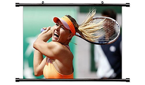 Eugenie Bouchard Tennis Player Wall Scroll Poster  32X21  Inches