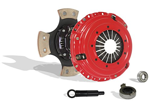 (Clutch Kit Works With Acura Integra Honda Civic Si Del Sol Cr-V Gs Ls Ex Lx Type R Gs-R VTEC Special 1994-2001 1.6L L4 1.8L l4 GAS DOHC Naturally Aspirated (Flywheel Spec: .112+; 4-Puck Disc Stage 3))