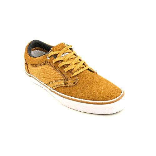 VansメンズOTWタイプIIキャンバスレザースケートボード靴Boneブラウン