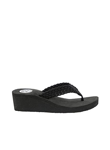 4c9611e7a KOALA BAY - Chancla Cuña Orleans Negro  Amazon.es  Zapatos y complementos